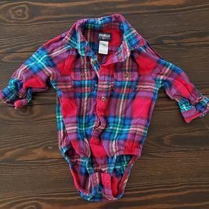 Flannel onesie